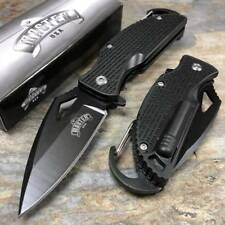 MASTER USA Spring Assisted Black Nylon Small Pocket Knife w/ Fire Starter