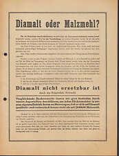 MÜNCHEN II, Prospekt 1936, Diamalt AG Diamalt Bäcker-Müller