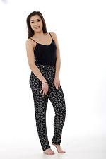 Ladies Floral Printtrousers Stretched Elasticated Summernarrow Leg HAREM Tapered Style 1 2xl