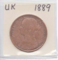 UK Great Britain (England) 1889 Penny Queen Victoria as pictured