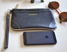 Celeb Style ZARA Basic Clutch Hand Bag Faux Leather Black Wallet Womens