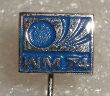 Germany 1974 FIFA Football World Cup Soccer WM 74 Logo vtg pin badge Rare