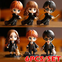 6x/Set Harry Potter/Ron Weasley /Hermione Granger Collectable Set Action Figures