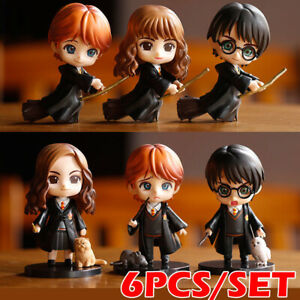 Harry Potter/Ron Weasley /Hermione Granger Collectable Set Action Figures 6 in 1