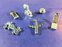 Monopoly Electronic Banking Pieces 6 Tokens Charms Skateboard Airplane Indy Car