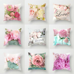 17.7'' American Rose Pillowcase Sofa Bedside Cushion Pillowcase Home Decoration
