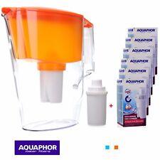 AQUAPHOR STANDARD Water Filter Jug Orange (2.5L) 1 + 6 Replacement cartridges
