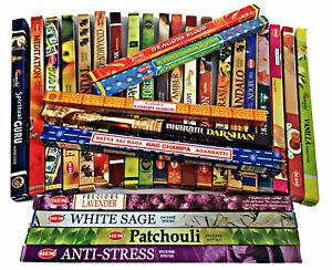 HEM INSENSE Natural Aromatic 20 Joss Sticks AGARBATTI Various Fragrances Scents