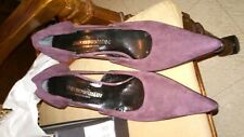 Womens Emporio Armani Brown Seude Leather Pumps Size 39 (US 8 1/2)