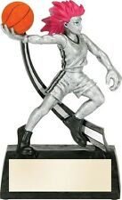 Female Manga Basketball Trophy Resin Plaque Award - Includes Personalization