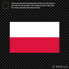 "4"" Polish Flag Sticker Decal Self Adhesive Vinyl Poland"