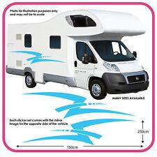 Motorhome Vinyl Graphics Stickers Decals Camper Van RV Caravan Horsebox mh2c