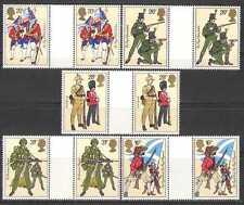 GB 1983 uniformes/Militar Ejército// Banderas 5v gttrs (n27088)