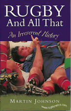 """RUGBY & ALL THAT - AN IRREVERANT HISTORY"" BOOK JOHNSON"