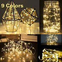 1/2/3M String Fairy Light 20 LED Battery Operated Xmas Lights Party Wedding Lamp