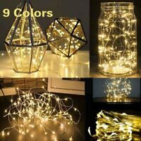 20 30 LED String Fairy Light Batteriebetriebene Xmas Lights Party Hochzeit Lampe