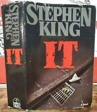 IT 1986 Stephen King Hardcover Book DJ First Club Edition BCE Horror Film Movie