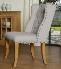 Traditional Polyester Blend Upholstered Side Chair (Wood Frame)