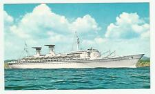 tn MICHELANGELO..ocean liner..Italian Line....ITALIA ... postcard... 1970 (new )