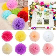1/5/10Pcs Papier Pom Pom Lanterne Fleur Boule Mariage Fête Maison Hanging Décor