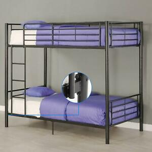 Dorm for Kids Adult Children Metal Bunk Beds Frame Twin over Twin Ladder NEW