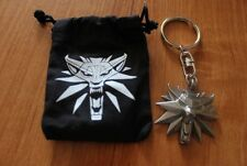 THE WITCHER 3 WILD HUNT OFFICIAL PENDANT KEYCHAIN WOLF HEAD GERALT MEDALLION