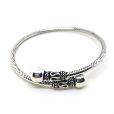 "cuff jewelry for women fashion N3 7.5"" 925 sterling silver charm bracelet bangle"