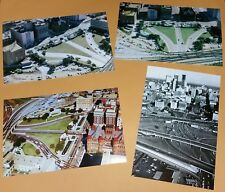 DEALEY PLAZA DALLAS TEXAS AERIAL VIEW PHOTO SET OF 4 KENNEDY ASSASSINATION JFK
