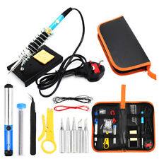 60W Soldering Iron FULL Kit Electronic Welding Irons Tool Adjustable Temperature