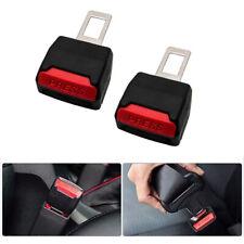 2pcs Auto Car Safety Seat Belt Buckle Extension Universal Alarm Extender Clip Us