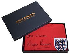 Martin Peters SIGNED Shirt Autograph Gift Box England New Scoredraw AFTAL & COA