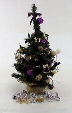 Weihnachtsbaum Christbaum lila Farben Höhe ca. 58 cm mit Zubehör-künstlich