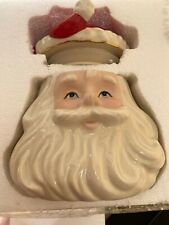 Lenox American Design Santa Claus Bust Head Porcelain Cookie Jar in Box Limited