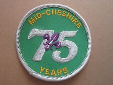 Mid Chester 75 Years Cloth Patch Badge Boy Scouts Scouting L4K C