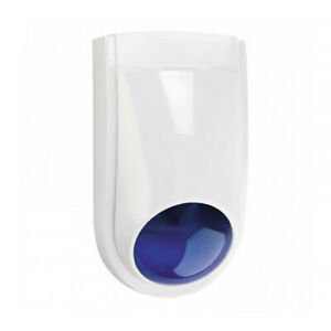 Alarm External Siren Strobe Combination Blue Strobe