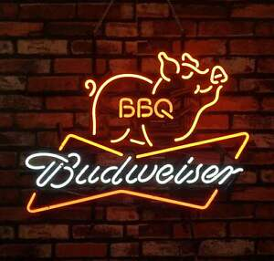 BBQ BVD Decor Custom Neon Signs Garage Bistro Patio Shop Neon Wallpaper 24""