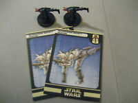 Star Wars Miniatures Devaronian Bounty Hunter Lot of 2 With Cards