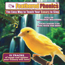 New listing Feathered Phonics #7 Cd: Teach & Train Your Canary to Sing! - Free Perch
