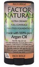 Factor Naturals Rich Beige 133 pan stick foundation w/Argan oil (not max factor)
