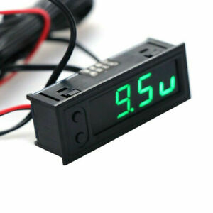 12V Car Voltage Clock Temperature Thermometer LCD Display Voltage Monitor Meter