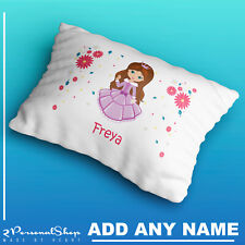 Personalised Princess Pillowcase Children Printed Gift Custom Print New Kids