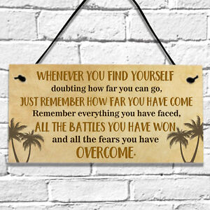 Encouragement Inspirational with Quotes Gifts Wall Hanging Plaque Sign Birthday