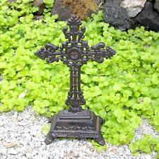 klein Standkreuz Kruzifix Gusseisen Wegkreuz Feldkreuz Altarkreuz Tiergrab 25 cm