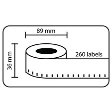 12 Rolls DYMO Compatible 99012 Quality Thermal Label 36mm x 89mm 260pcs/Roll