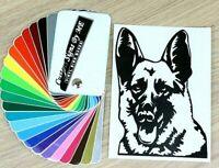 German Shepherd Dog Sticker Vinyl Decal Adhesive Car Wall Window Laptop BLACK #2