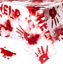 Halloween Horror Bloody Handprint Plastic Tablecover Tablecloth Party Decoration