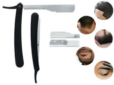 "Straight Edge Razor Steel Folding Shaving Salon Handle Knife Barber Beard 6"" NEW"