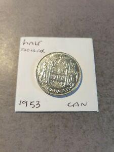 High Grade Canada 1953 Silver Half Dollar / 50 Cent Coin
