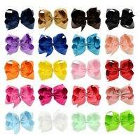 20PCs Set 15cm Baby Girl Toddler Child Kid Jojo Style Bow Clips Hair Accessory