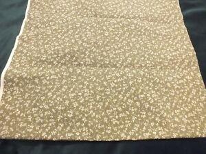 Vintage Laura Ashley Fabric Wild Clematis Moss 50cm x 98cm